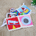 Baby Double Sided 3D Dog Crib Cloth Cilp-on Pram Book Developmen Activity Toys