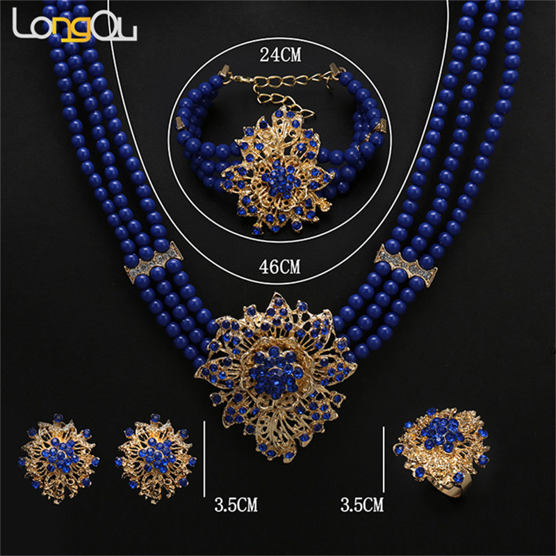 New Dubai Jewelry Set Necklace/Earring/Bracelet Gold Color Ethiopian/African/Eritrea/Saudi Arabia Women Wedding Gifts