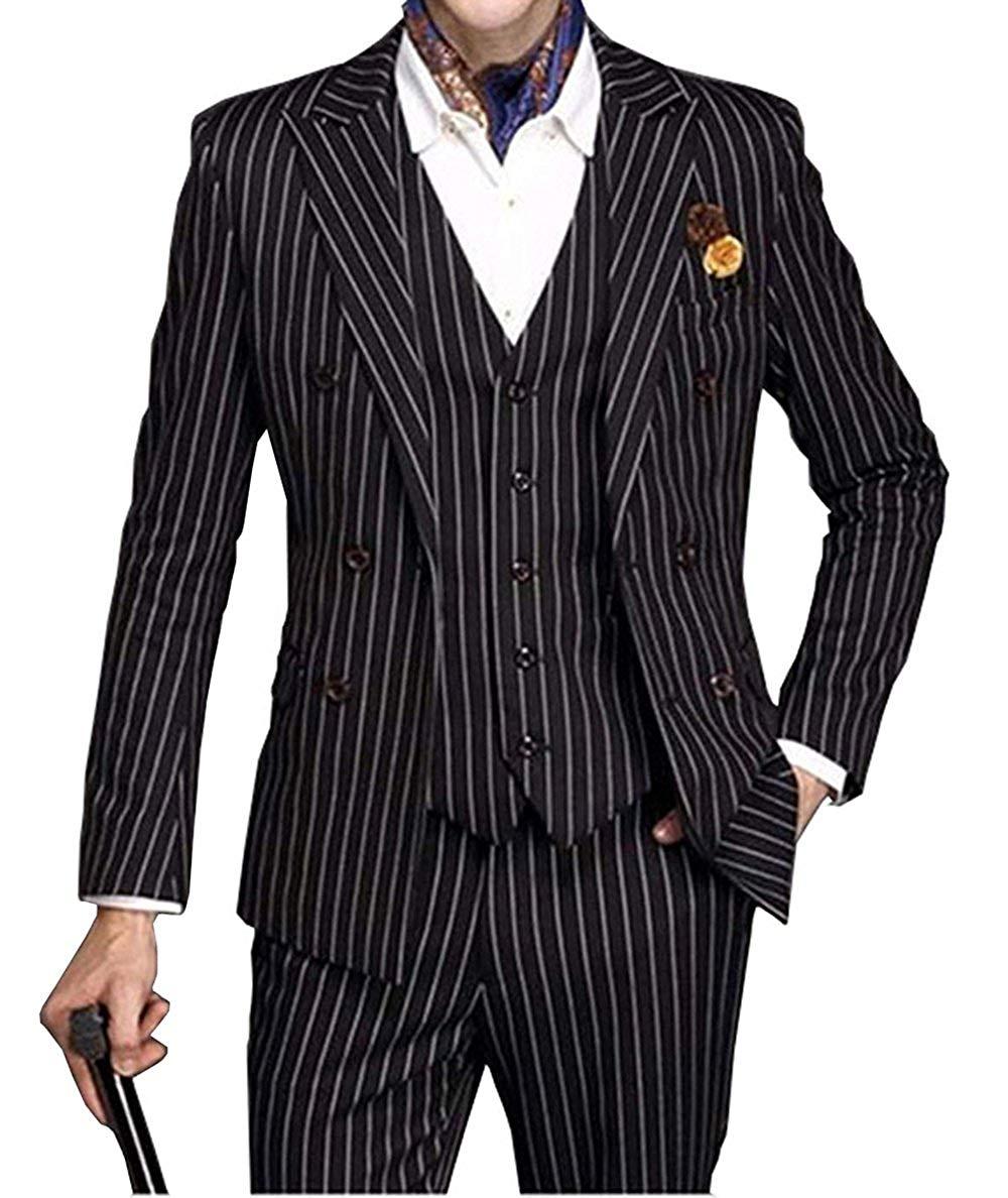 2019 جديد سليم صالح رجل دعوى مجموعة 3 قطعة مزدوجة الصدر الزفاف Groomman مقلمة حقق التلبيب البدلات الرسمية سترة + Veat + السراويل-في بدلة من ملابس الرجال على  مجموعة 1