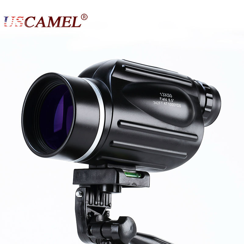 Caccia 13x50 Grande Visione Monoculare Portatile Potente Telescopio Oculare Spotting Scope Sport Watch con Manico USCAMEL