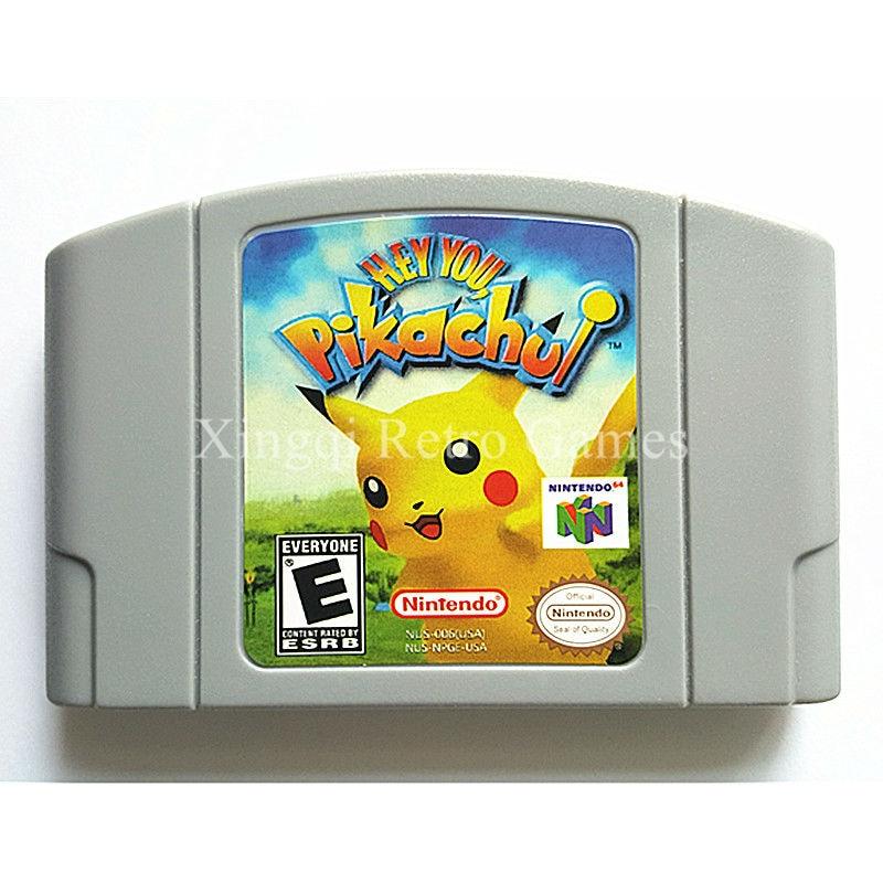 Nintendo N64 Game Hey You, Pikachu! Video Game Cartridge Console Card English Language US Version