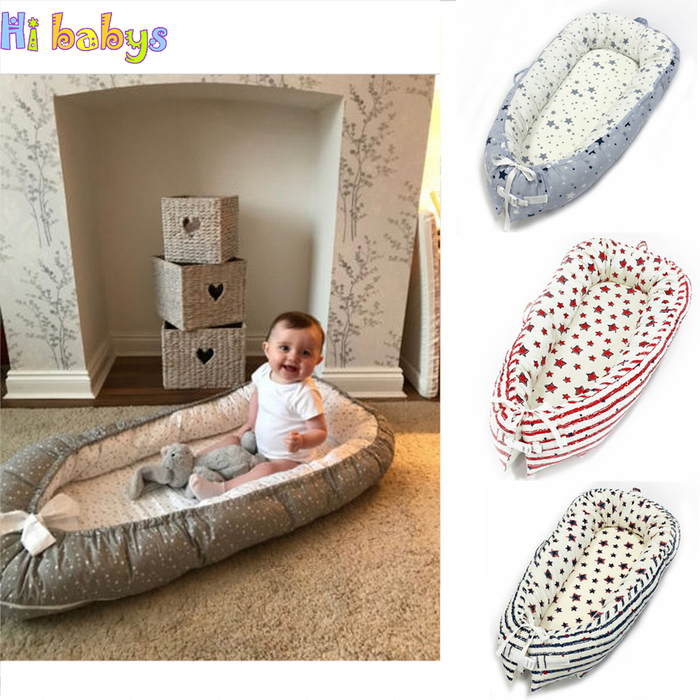 Portabel Baby Nest Bed Newborn Crib Bionic Bed Toddler Size Nest Travel Crib with Bumper Children Infant Kids Cotton Cradle 80 50cm baby nest bed portable crib travel bed infant toddler cotton cradle for newborn baby bassinet bumper