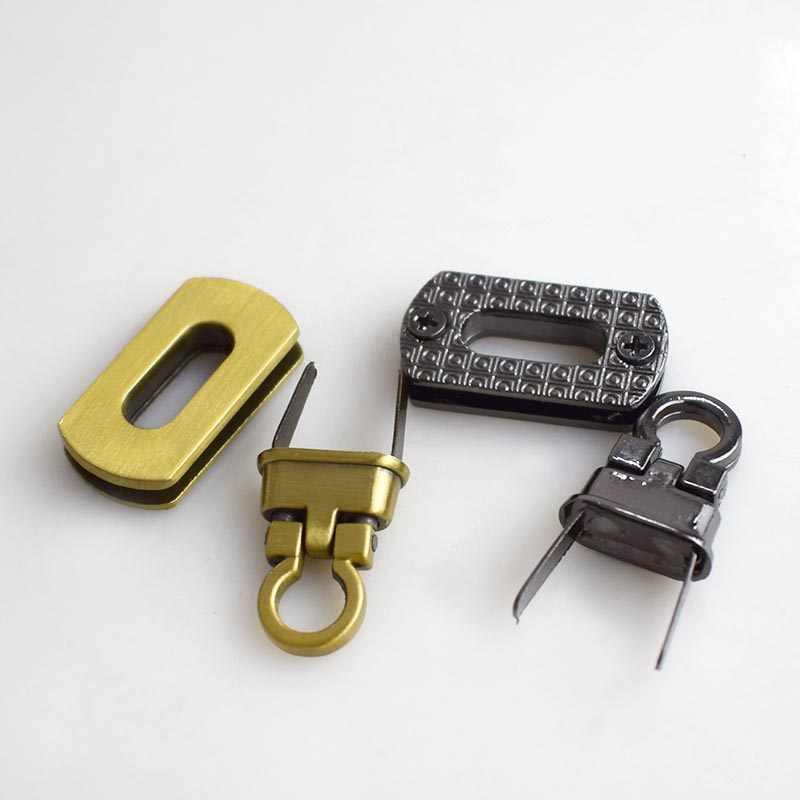 2 piezas 25x17mm bolso de mano cierre hebilla moda giro bloqueo broches para DIY bolsas de repuesto monedero cierre de KY809