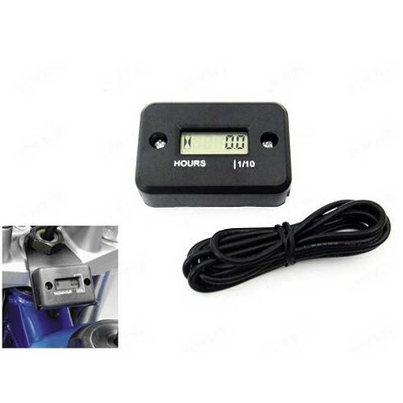Für 4 Hub Motorrad ATV Schneemobil Stunde Meter Zähler Wasserdichte Motor Gauge LCD Display Tragbare Stunde Meter Tachometer