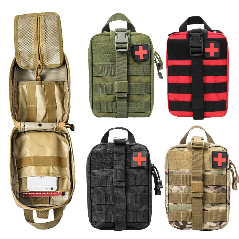 2018 New Outdoor Travel First Aid Kit Camping Bag Emergency Case Tactical Waist Pack Camping Climbing Bag Survival Kits