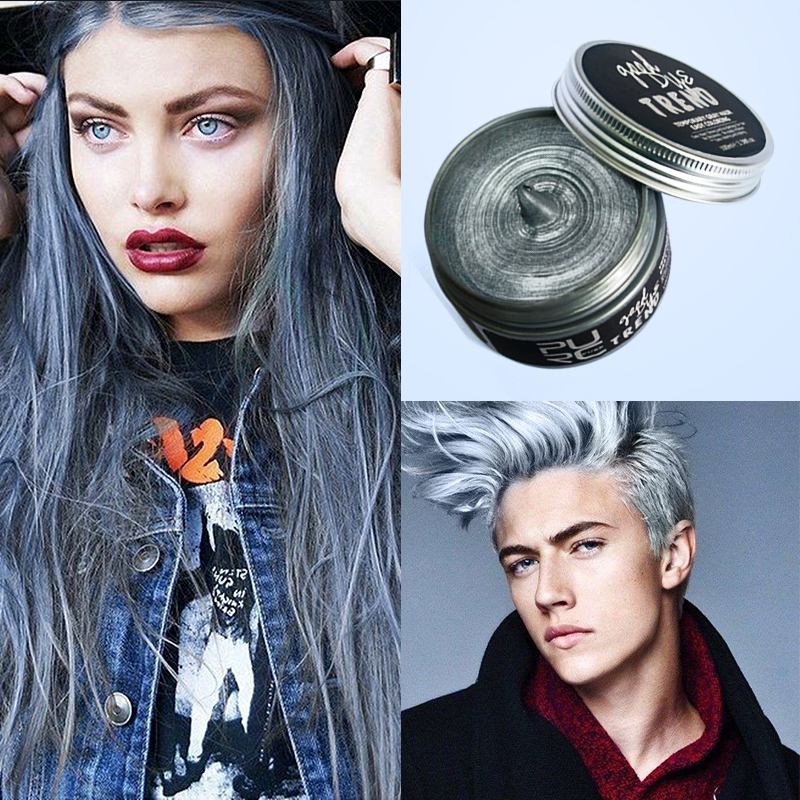 US $29 5 |PURC Instant Hair Colour Pomades Waxes Gray Red Silver Ash Wax  Hair Color Wax Mud Disposable Modelling Dye Cream Easy Washable-in Hair  Color