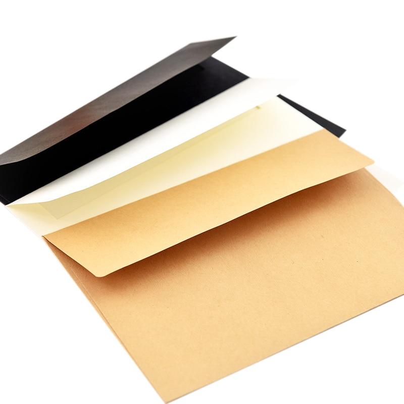 50Pcs/Pack 17.5X12.5Cm Kraft White Black Paper Envelope Message Card Letter Stationary Storage Paper Gift