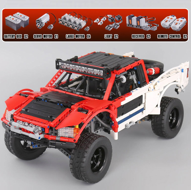 US $170 0 |Lepin 23013 2314pcs Baja Trophy Truck Building Blocks Compatible  With Lego Technic SUV Car Pickup Truck MOC Model Bricks Toys-in Blocks
