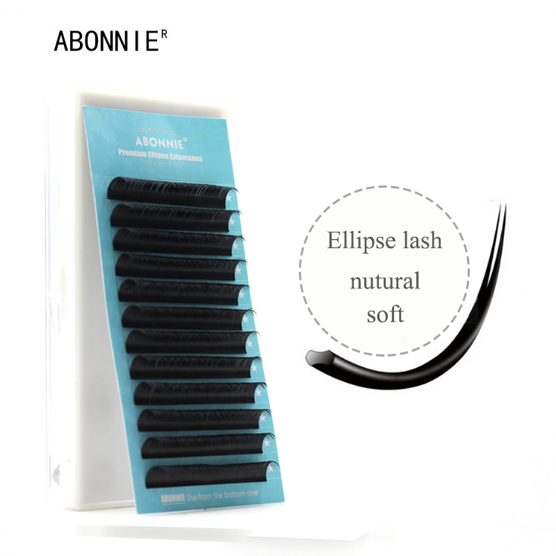 Ellipse eyelashes, flat mink eyelashes, 1case/set, Flat Lashes, high-quality Ellipse False Eyelash Extension,