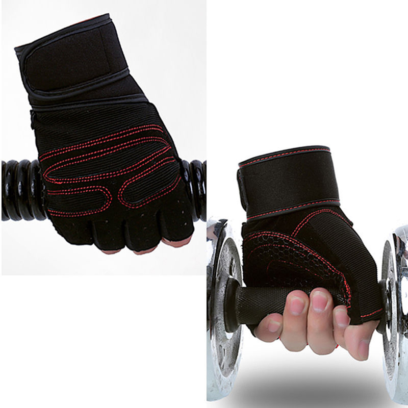 Outdoor Sports Gloves Wrist Support Weight Lifting Gym Gloves Workout Wrist Wrap Sports ExerciseTraining Sports Safety Glove ...