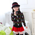 Keep warm Children's clothing  Winter new  Cashmere sweater Hedging Round collar  Kids for Girls 2017 Children's sweater
