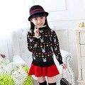 Manter As Crianças quentes roupas de Inverno novo suéter de Cashmere gola Redonda Hedging camisola das Crianças para As Meninas 2017 Crianças