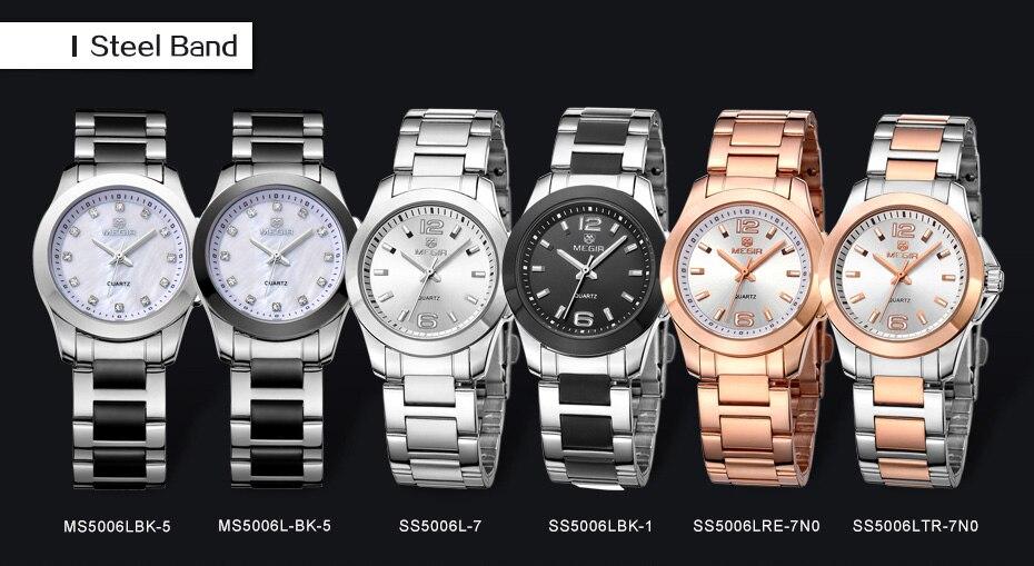 f902a77288d Mulheres Relógios Marca de Luxo Cinta de Aço Rosa de Ouro Design de Moda