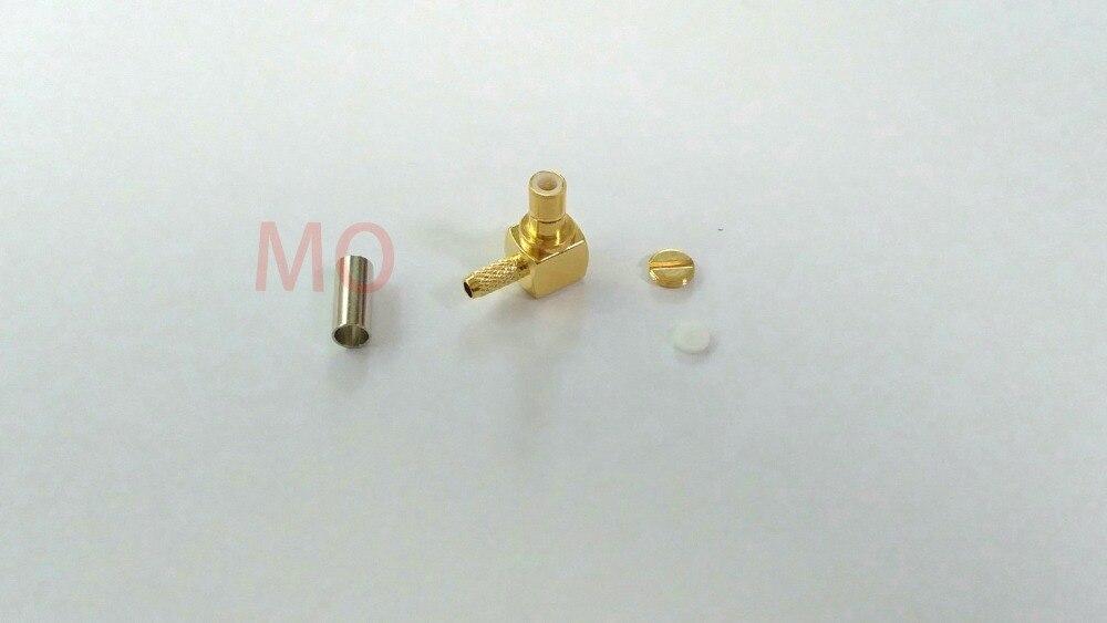 500pcs lot  SMB male plug pin right angle crimp for RG316 LMR100 RG174 cable