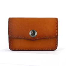 Name card holder cow Leather credit Coin Purses & Holders Hasp Pouch Business Card case Organizer Vintage change Mini Wallets