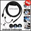 Alta Calidad 5.5mm Len 5 M Android OTG USB Endoscopio Cámara de La Serpiente Flexible USB Inspección de la Pipa Android Teléfono USB boroscopio Cámara