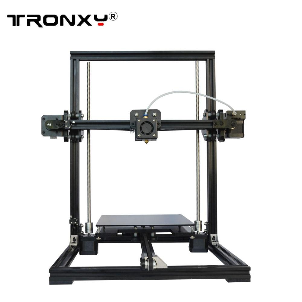 Tronxy X3 bricolage 3D imprimante kit Aluminium Structure machine nivellement automatique X3A 3D impression 8 GB SD carte bowden extrudeuse 220x220x300mm