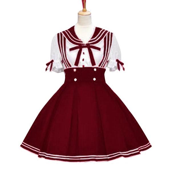 Robe Lolita marin robe Vintage femme vêtements Lolita Costumes - 4