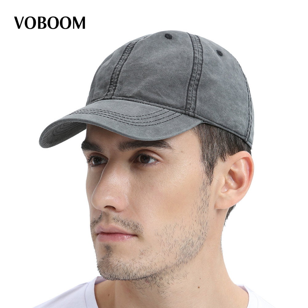 VOBOOM Summer Baseball Cap Washed Cotton Men Women 6 Panel Adjustable Hat with Air Hole 161 mens vintage beret hat sailing embroidery washed cotton paper boy cap
