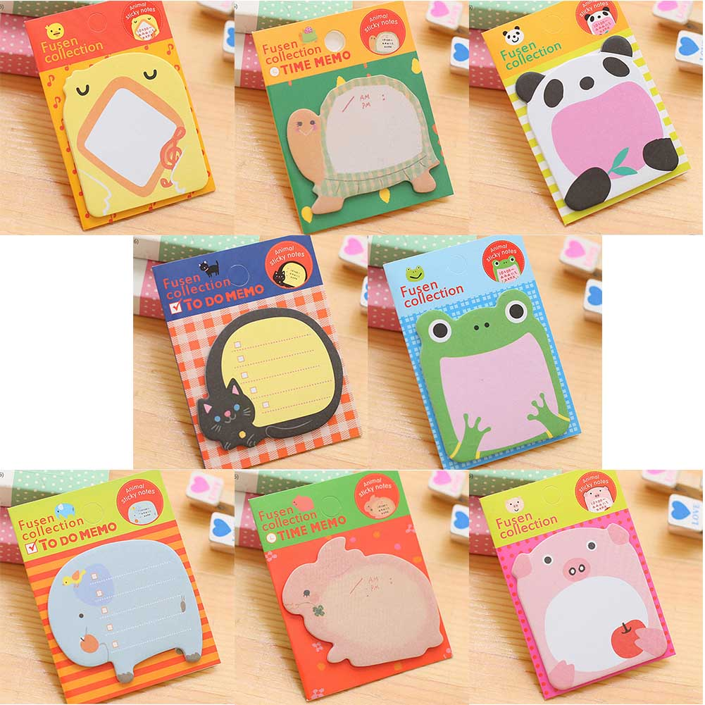 1Pcs Animale de desene animate Memo Pad Paper Sticky Notes Post - Blocnotesuri și registre - Fotografie 2
