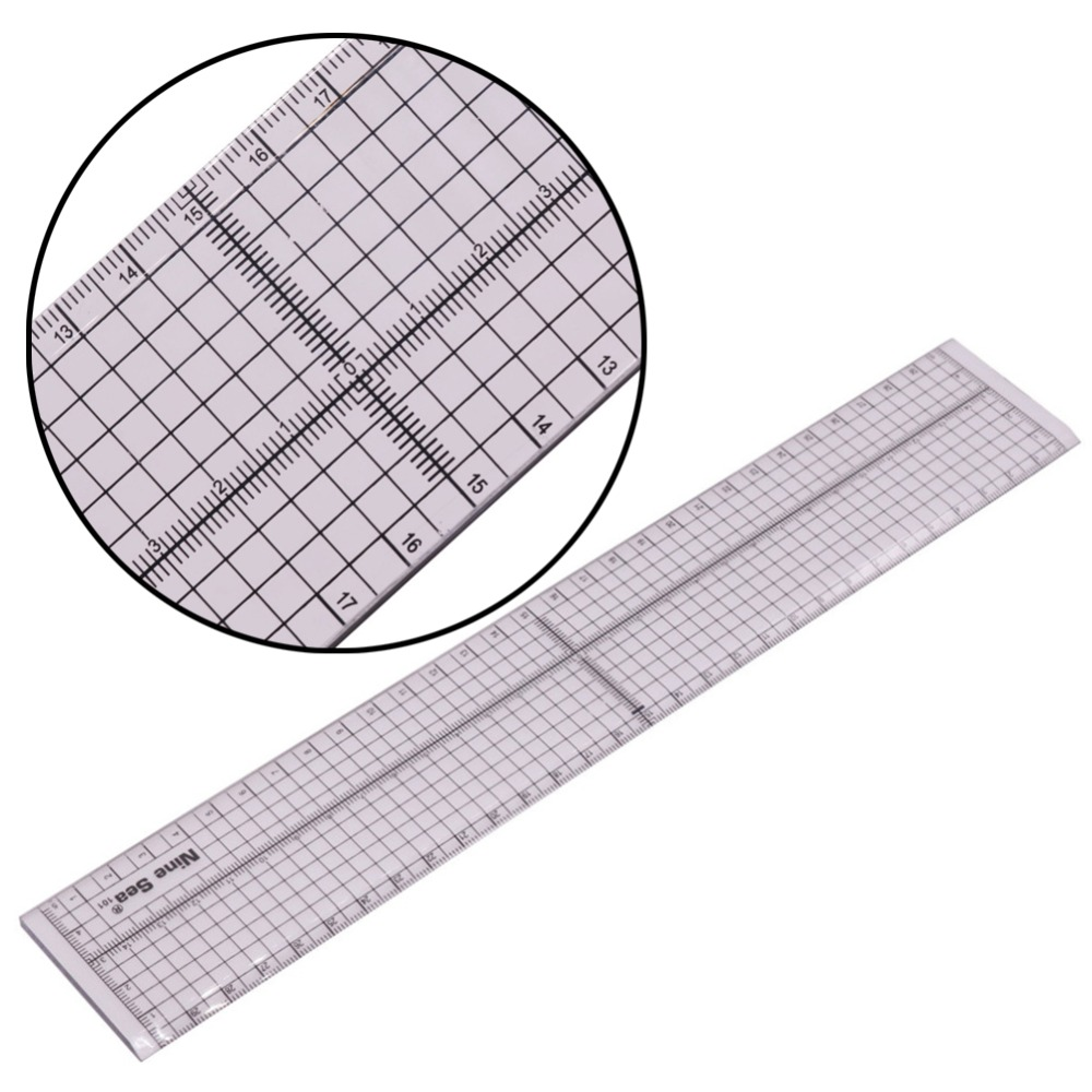 1pcs Transparent Regular Ruler Patchwork Ruler Aligned Our Foot Ruler Cutting Edge 5 * 30cm Hand-Cut Foot Patchwork Ruler Tailor