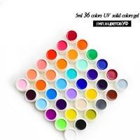 Nail Art 36 Pure Color 5ml Nail Uv Gel Kit Uv Color Paint Gel Kit Uv