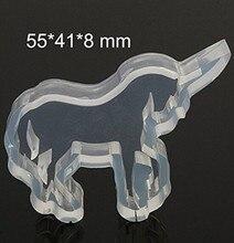 Unicorn Silicone Mold – Animal Mold Fondant, Cupcake Topper, Gum Paste, Candles, Jewelry, DIY Handmade, Resin Mold H191