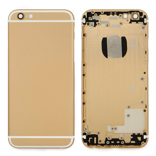 Aluminum Alloy Rear Housing Back Battery Cover Case Middle Frame For Iphone6 With Sim Card Tray+Buttons