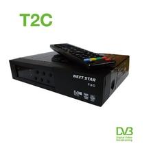 10pcs/lot AZFOX T2C HD Digital Satellite Tv Receiver Compliant with ISDB-T/SBTVD Set Top Box TV Box