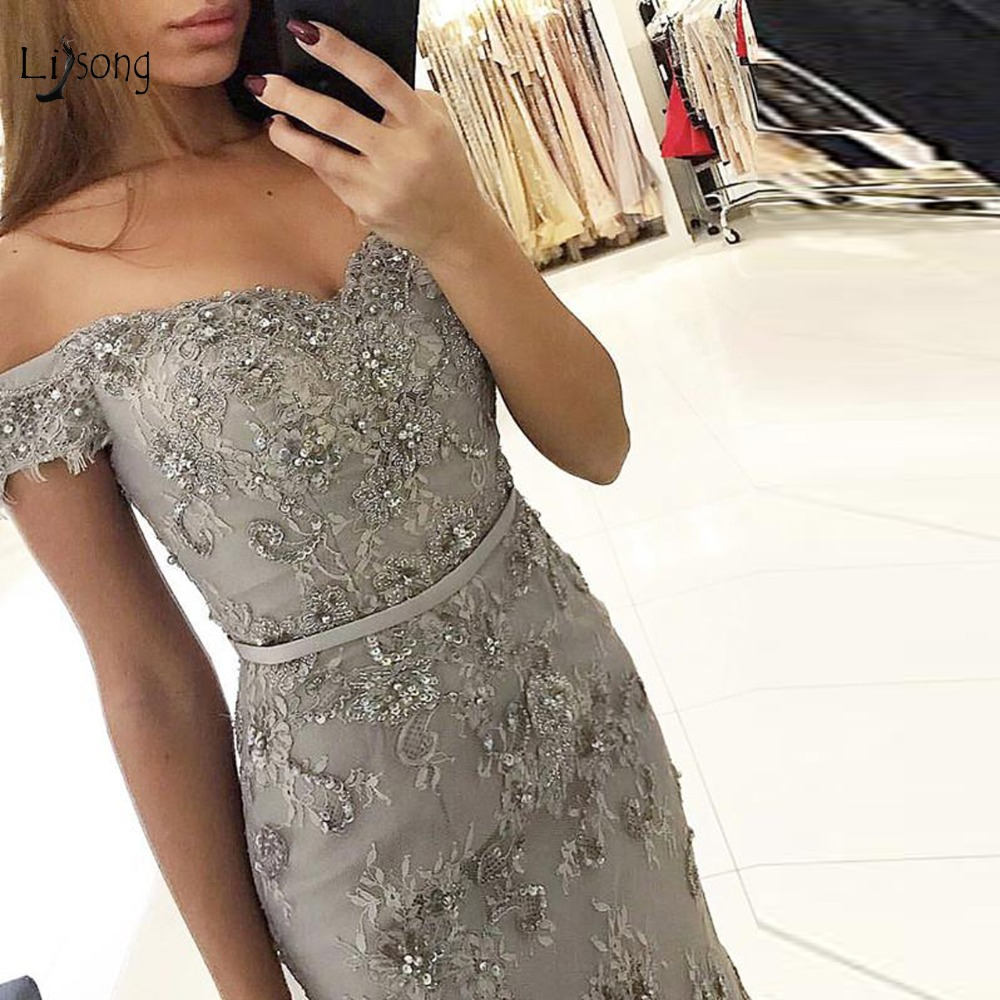 7e7b3c9ad3 Big Discount] Fashion Gray Long Evening Gown 2019 Evening Dresses ...