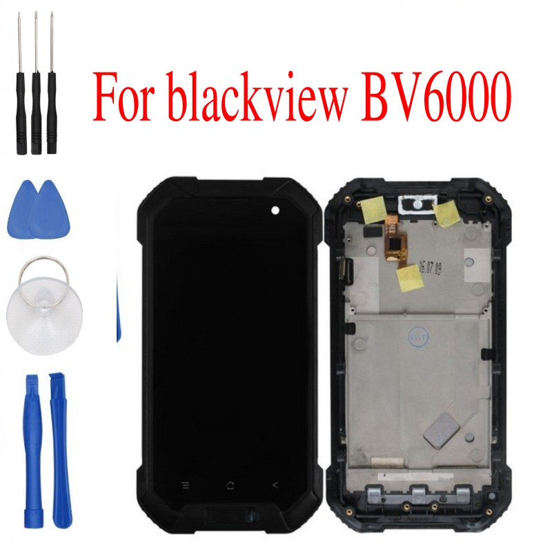 Free tools Blackview BV6000 LCD Display Touch Screen Digitizer Assembly Replacement For Blackview BV6000 Phone