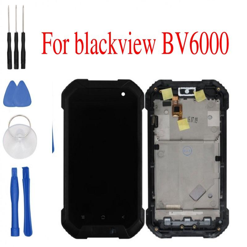 Prix pour Outils gratuits Blackview BV6000 LCD Display + Écran Tactile Digitizer Assemblée Remplacement Pour Blackview BV6000 Téléphone