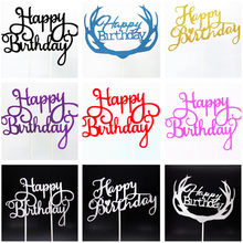 Happy Birthday Cake Topper Sweet 16 Party Decoration Wedding Favors And Gifts Boy Home Decoration Baking Accessories 50 Birthday(China)