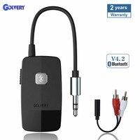 Bluetooth 4,2 приемник портативный беспроводной HiFI аудио адаптер с 3,5 мм RCA разъем для дома стерео потоковой музыки или автомобиля динамик