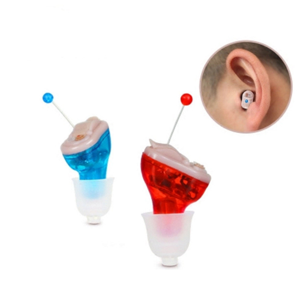 Invisible Adjustable Hearing Aid Sound Voice Amplifier Enhancer Mini In-EarInvisible Adjustable Hearing Aid Sound Voice Amplifier Enhancer Mini In-Ear