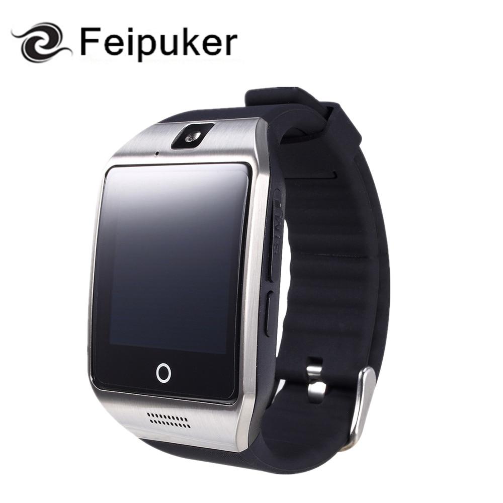 imágenes para 2017 Bluetooth Reloj Inteligente Q18 Apoyo Sim TF Tarjeta de la Cámara de Conexión Android IOS Relojes Whatsapp Facebook Smartwatch dz09