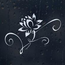 Цветок белая водяная Лилия автомобиля Наклейка Виниловая наклейка для окна бампер панели ноутбука