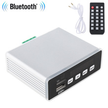 цена на 60W Bluetooth Small Power HIFI Amplifier MP3 Decoder APE FLAC WAV TF USB MP3 Player Lossless Format Decoding for Car Home DVD