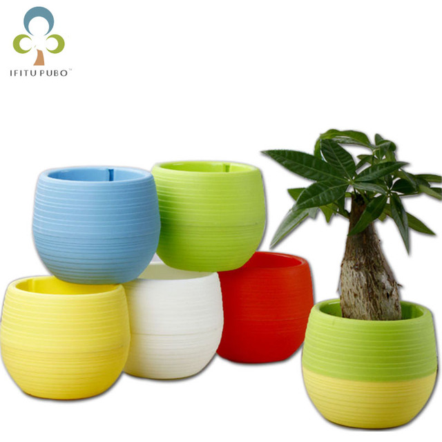 5pcs Lot 7 7cm Flower Pots Mini Flowerpot Garden Unbreakable Plastic Nursery For