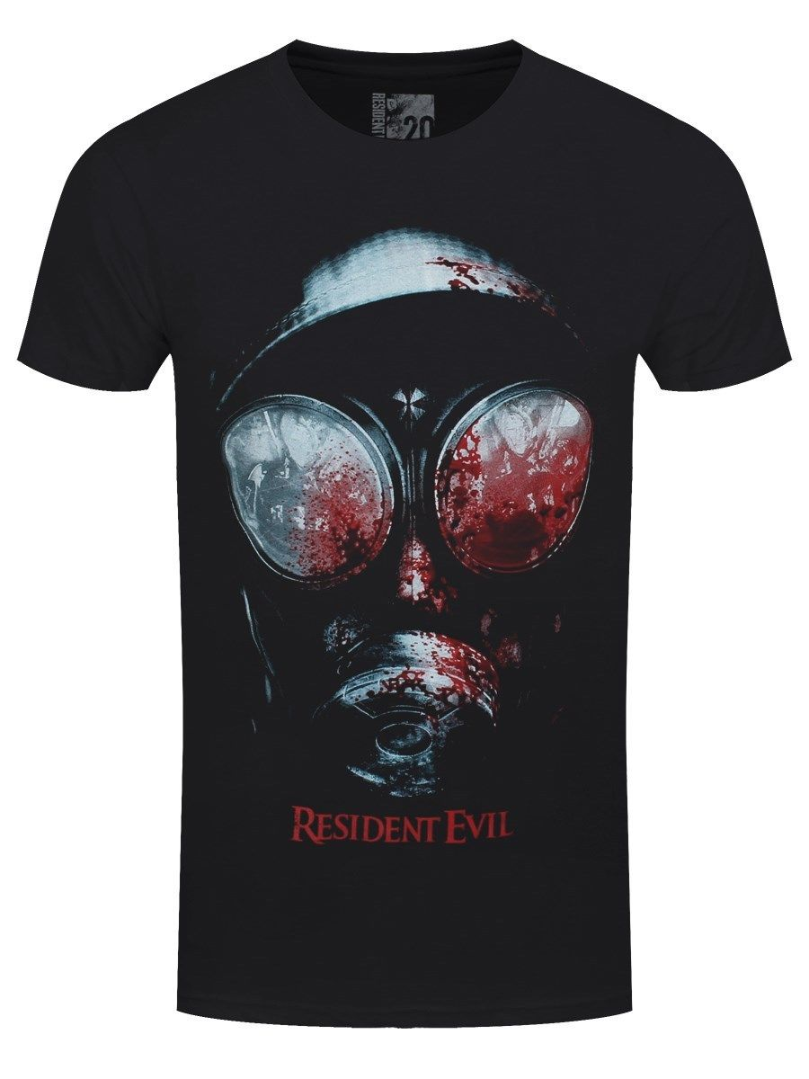 T-shirts Resident Evil Gas Mask Mens Black T Shirt Tops & Tees