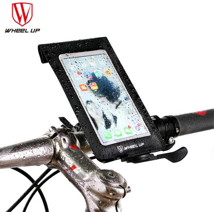 WHEEL UP Universal 360 Rotataing Waterproof Phone Bag Quick Release Cycling Phone Clip TPU Touch Screen Bicycle Phone Bag