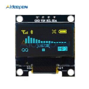 Светодиодный модуль с ЖК-дисплеем, 0,96 дюйма, 0,96 дюйма, желтый, синий, 12864 х64, 128 х64, SSD1306, SPI, 4-контактный Последовательный модуль