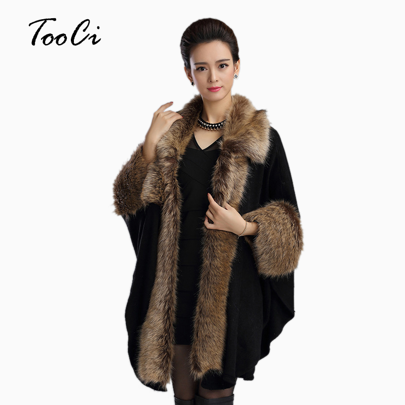 Women Faux Fur Coat Female Fashion Womens Black Winter Leather Grass Synthetic Faux Fox Fur Thick