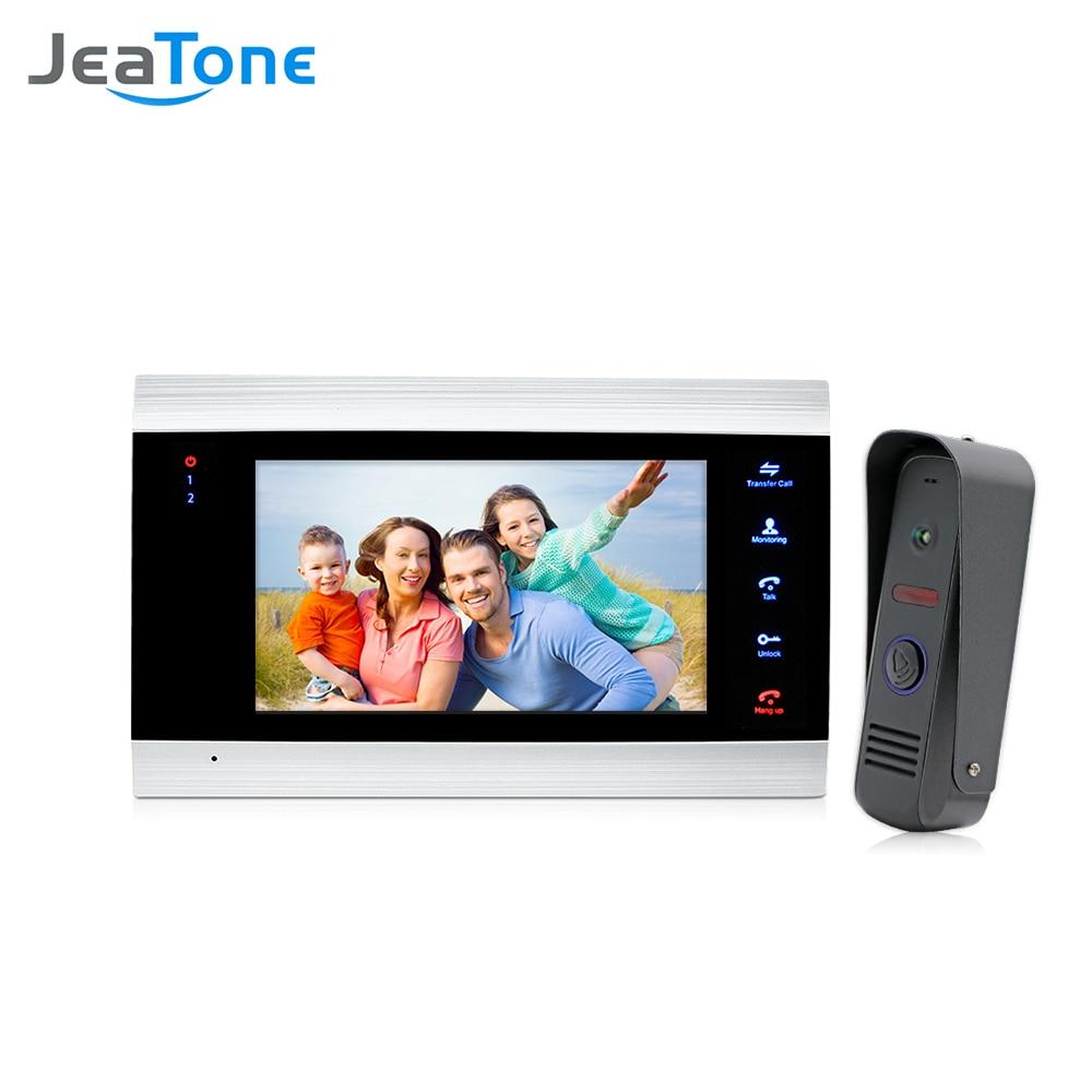 7'' Video Doorphone Intercom Systems On-door Speakerphone Pin-Hole Camera Home Security Video Door Phone Kit Door Entry System
