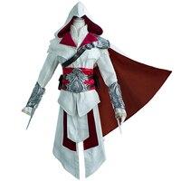 Creed Ezio Auditore Cosplay Costume Set Adult Men Halloween Party Cos Ezio Costume Cosplay with Accessories