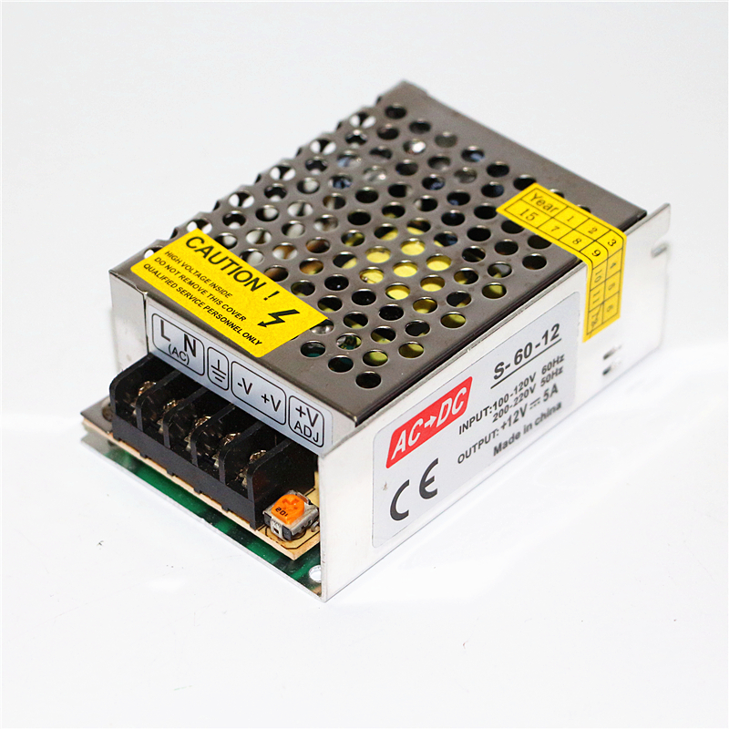 DC12V 5A Lighting Transformers AC 110V 220V to DC 12V LED Driver 60W Power Adapter For 5m LED Strip light Switch Power Supply new ac to dc 12v 25a 300w switch power supply driver adapter for led strip