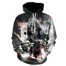 2019 New Design Mens Hoodies Funny Print Hoodie Man Fashion  Casual Sweatshirt