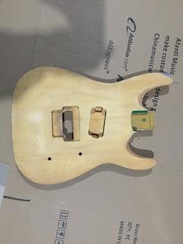 Afanti Music gitara elektryczna DIY korpus gitary elektrycznej (ADK-666) tanie i dobre opinie Beginner Unisex Do profesjonalnych wykonań Nauka w domu LIPA Drewno z Brazylii None Electric guitar Electric guitar body