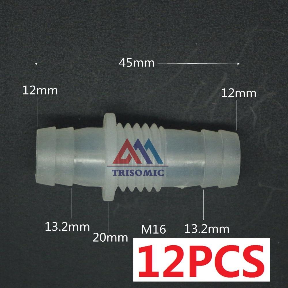Sanitär Gastfreundlich 12 Stücke 12mm-m16-12mm Gerade Reduzierung Verbindungskunststoffrohr Fitting Barbed Reduzierung Stecker Metric Material Pp Rohre & Armaturen