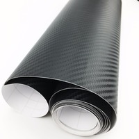 500cm*60cm 3D Carbon Fiber Fibre Vinyl Film Sheet Car Stickers Waterproof Motorcycle Car Styling Wrap With packaging Accessories